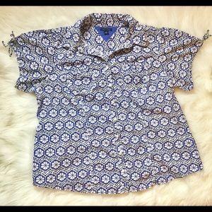 Tommy Hilfiger size 16 blue floral blouse
